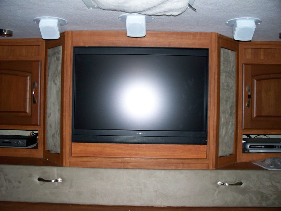 The new ly installed flat-screen